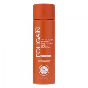 Image of Foligain Shampoo Trioxidil 2% Per Ricrescita Capelli Uomo - Anticaduta e Diradamento Capelli Uomo - Miglior Shampoo Anticaduta a Tripla Azione - 236ml