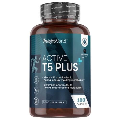 Image of Active T5 Plus - Integratore Termogenico - 60 Capsule per un Mese - Metabolismo - Integratore per Dieta